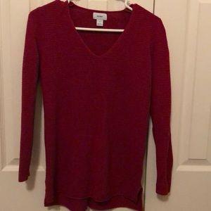 Red V- Neck Sweater